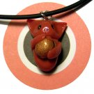 Cheezburger Kitty Ginger Orange Animini Necklace