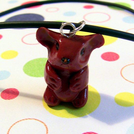 Guinea Pig Animini Necklace-- Terracotta