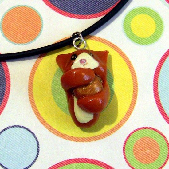 Cheezburger Kitty Ginger Orange Tuxedo Animini Necklace