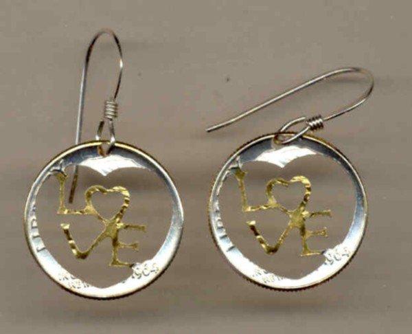 U.S. dime 90% silver (Special cut design) 1946 - 1964