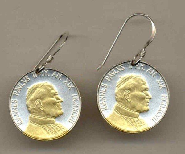 Vatican city 50 Lire Bust of Pope John Paul II (U.S. penny size)