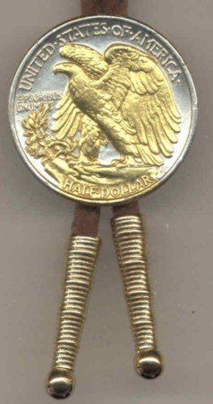 U.S. Walking Liberty Silver ½ dollar reverse (eagle & olive branch in Gold)