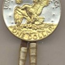 Eisenhower dollar reverse (Eagle, earth & moon in Gold)