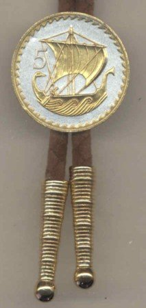Cyprus 5 Mils Viking Ship (U.S. quarter size)