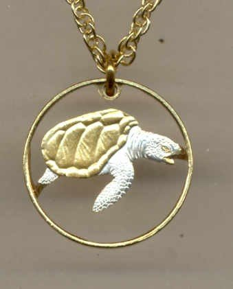 Cape Verde 1 escudos Sea Turtle (same size as a U.S. dime)