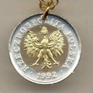 Polish 5 groszy (Eagle with crown) copper - nickel (penny size) 1990 - 1999