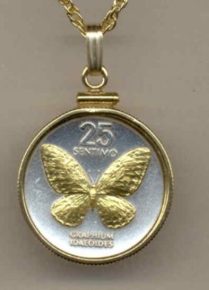 Philippines 25 sentimos Butterfly (Nickel size)