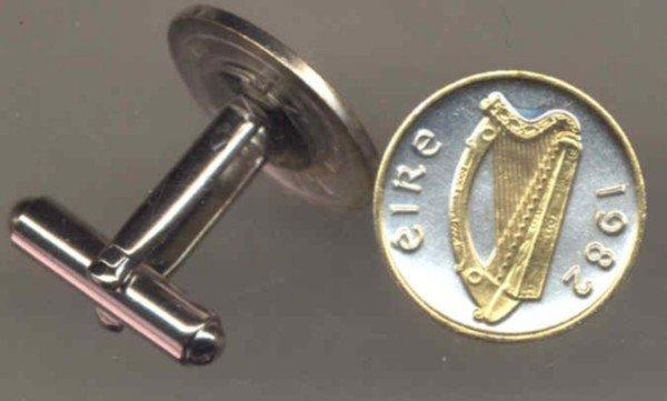 Irish ½ penny Harp (dime size)