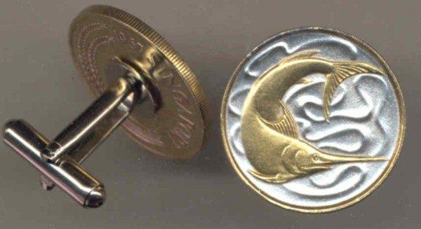 Singapore 20 cent Swordfish (a little smaller than a U.S. quarter)