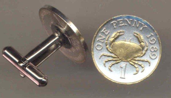Guernsey penny Crab (U.S. nickel size)