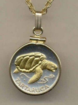 Cape Verde 1 escudos Sea Turtle (same size as a U.S. dime)