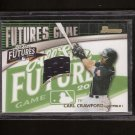CARL CRAWFORD - 2002 Bowman Futures JERSEY Rookie - Dodgers, Red Sox, Tampa Bay Rays