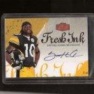SANTONIO HOLMES - 2006 Fleer Flair Fresh Ink Autograph RC - Jets, Steelers & Ohio State Buckeyes