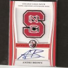 ANDRE BROWN #111/300 - 2009 Bowman Draft AUTOGRAPHED College Patch - NY Giants & NC State Wolfpack