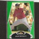 JOSH BECKETT - 2008 Topps Finest GREEN REFRACTOR - Red Sox
