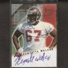 KENYATTA WALKER - 2001 Bowman AUTOGRAPH Rookie - Buccaneers, Panthers & Florida Gators