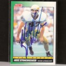 MIKE STONEBREAKER - Notre Dame Fighting Irish - 1991 Score Rookie AUTOGRAPH