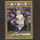 TONY ROMO - 2008 Topps GOLD #985/2008 - Eastern Illinois & Dallas Cowboys