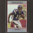 SIDNEY RICE 2007 Bowman Chrome REFRACTOR RC - Vikings & South Carolina Gamecocks