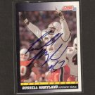RUSSELL MARYLAND 1991 Score ROOKIE - Cowboys & Miami Hurricanes - AUTOGRAPH