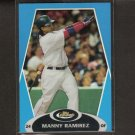 MANNY RAMIREZ - 2008 Topps Finest BLUE Refractor Serial Numbered - Red Sox & Dodgers