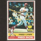 FRED LYNN - 1976 Topps - 2nd Year RED SOX