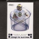 JASON AVANT - 2006 Hit Design for Success ROOKIE - Eagles & Michigan Wolverines