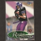 D'WAYNE BATES - 1999 Fleer Ultra ROOKIE - Bears, Vikings & Northwestern