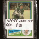1984-85 Hartford WHALERS Team Set - O-Pee-Chee