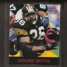 JEROME BETTIS - 1997 Fleer Goudey Gridiron Greats Parallel - Steelers