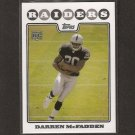 DARREN McFADDEN - 2008 Topps RC - Razorbacks & Oakland Raiders