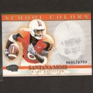 SANTANA MOSS - 2001 Pacific Invincible School Colors - Redskins & Miami Hurricanes
