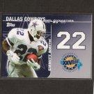EMMITT SMITH - 2008 Topps Dynasties - Dallas Cowboys & Florida Gators