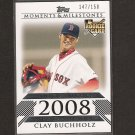 CLAY BUCHHOLZ - Topps Moments & Milestones - Red Sox