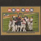 RED SOX TEAM CARD 2008 Topps Gold  #679/2008