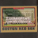 RED SOX TEAM CARD 2005 Topps Gold  #118/2005