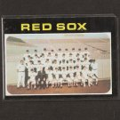 RED SOX TEAM CARD 1971 Topps - NEAR MINT +++