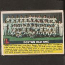 RED SOX TEAM CARD 1956 Topps - Ted Williams!