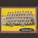 RED SOX TEAM CARD 1962 Topps