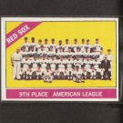 RED SOX TEAM CARD 1966 Topps