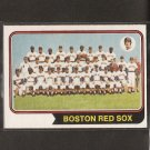RED SOX TEAM CARD 1974 O-Pee-Chee