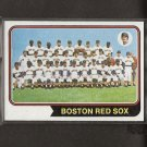 RED SOX TEAM CARD 1974 Topps