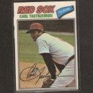 CARL YASTRZEMSKI - 1977 Topps Cloth Sticker - Red Sox