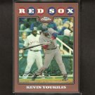 KEVIN YOUKILIS 2008 Topps Chrome BRONZE REFRACTOR - Red Sox