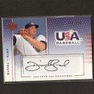 DANIEL BARD - 2005 Upper Deck TEAM USA Autograph ROOKIE - Red Sox