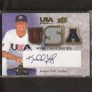 KENDAL VOLZ - 2008 Upper Deck TEAM USA Autograph JERSEY ROOKIE - Red Sox