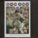 CURT SCHILLING 2008 Topps Chrome REFRACTOR - Red Sox