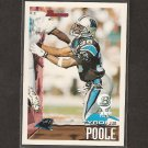 TYRONE POOLE Rookie - 1995 Bowman 1st Round Draft - Carolina Panthers