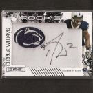 DERRICK WILLIAMS 2009 Rookies & Stars Patch Autograph - Detroit Lions & Penn State
