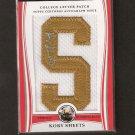 KORY SHEETS 2009 Bowman Draft Letter Patch Autograph - 49ers & Purdue